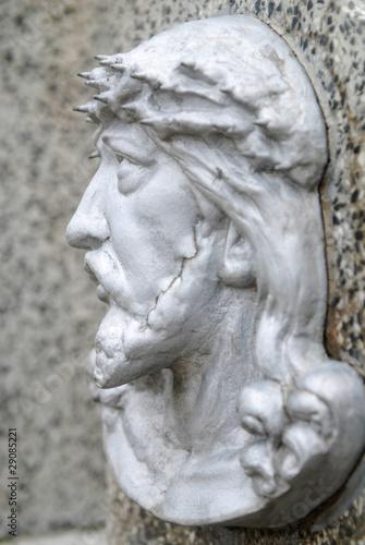 Commemoratif face of Jesus