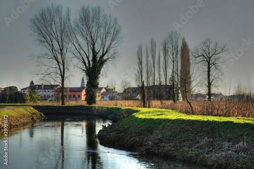 Tela  inverno paesaggio 1520