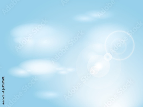 Poster Ciel Blue sky with clouds / Abstract background