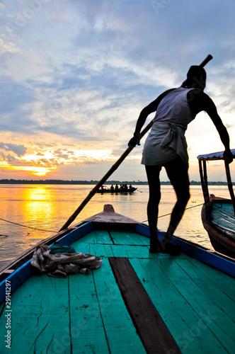 Fotografie, Obraz  Sur le Gange à l'aube