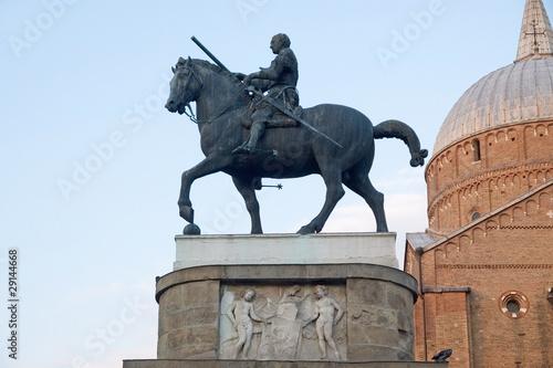 Photo  Statue of condottiere Gattamelata by Donatello in Padua