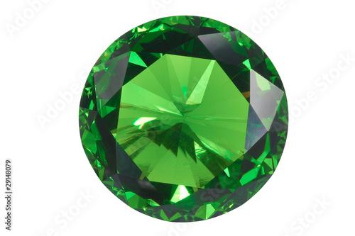 Photo emerald isolated