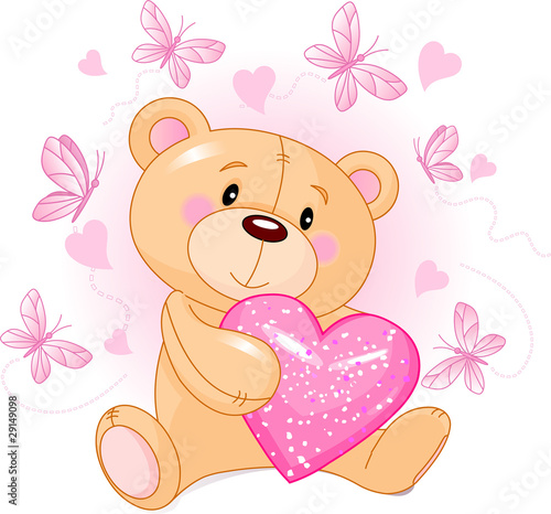 Teddy Bear with love heart #29149098