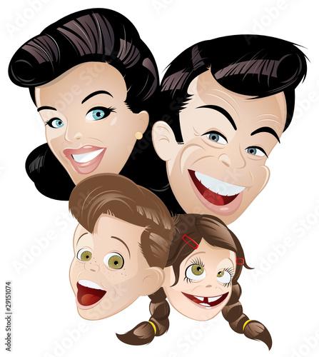 Foto-Stoff - familie cartoon glücklich generation (von shockfactor.de)
