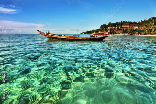 Photo  Beautiful tropical beach in Koh Phangan, Thailand