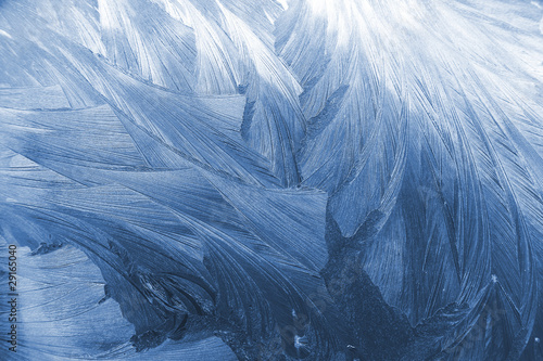 Photo  Frost glass texture