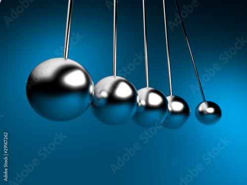 Fotografie, Obraz  newton cradle 3d ballancing