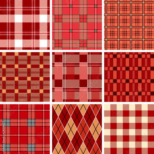 Fotografía  Seamless Red Check Pattern