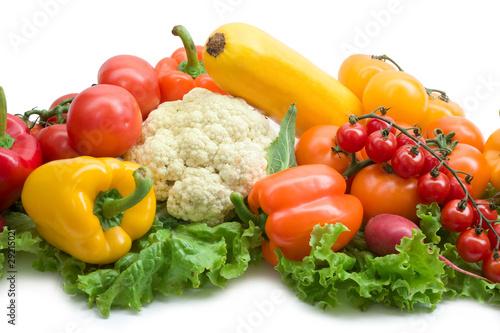 Poster Légumes frais vegetable background