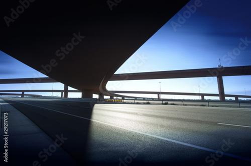 Modern highway interchage bridge Wallpaper Mural