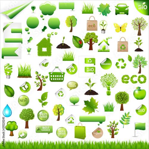 Fotografie, Obraz  Collection Eco Design Elements
