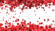 Fliegende 3D Würfel Rot Weiß 01 - Hintergrund