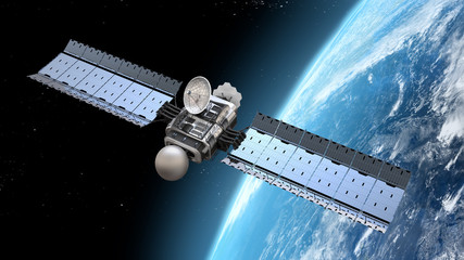 Fototapeta satelita w przestrzeni kosmicznej