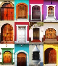 Doors Of León And Granada, Nicaragua