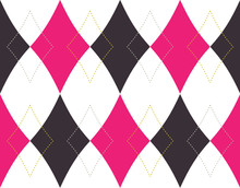 Pink And Green Rhombus Seamless Background Pattern