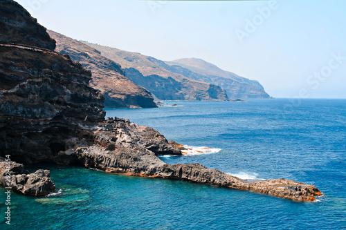 Tuinposter Canarische Eilanden Cliffs in La Palma, Canary Islands