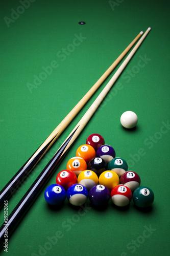 Canvas Print Billiard game