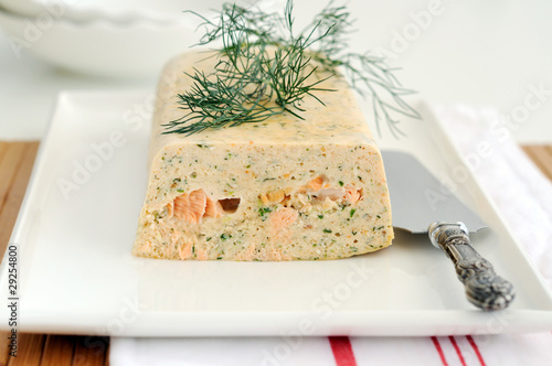 Photo sur Toile Entree Fresh and smoked salmon terrine