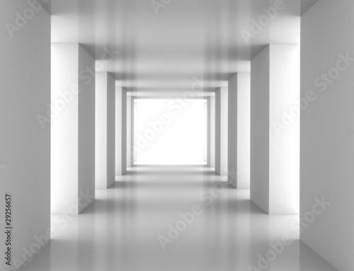 Obrazy powiększające wnętrze   tunel-z-biala-sciana