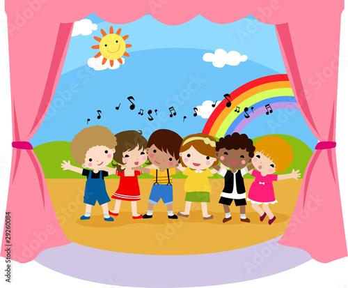 In de dag Regenboog Children's singer