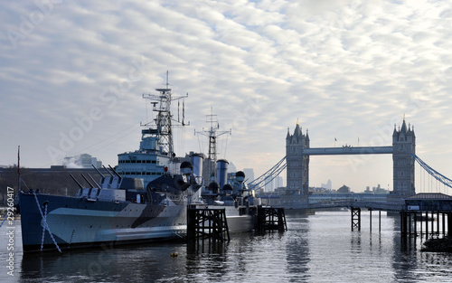 HMS Belfast & Tower Bridge, London