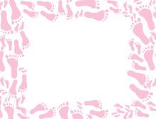 Baby Pink Footprint Background