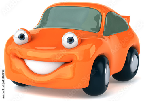 Staande foto Cartoon cars Voiture