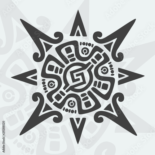 Calendario Maya Vector.Mayan Design Symbol Buy This Stock Vector And Explore