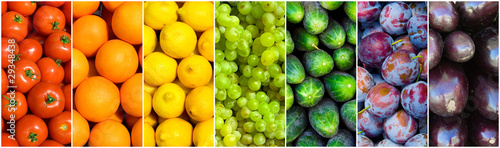 Fotomural  fruit rainbow