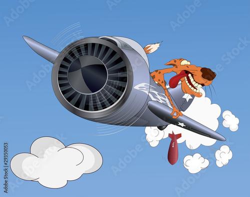 Deurstickers Militair Cheetah the pilot