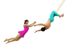 Trapeze Artists In Flight Isol...