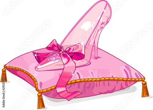 Printed kitchen splashbacks Fairytale World Crystal slipper