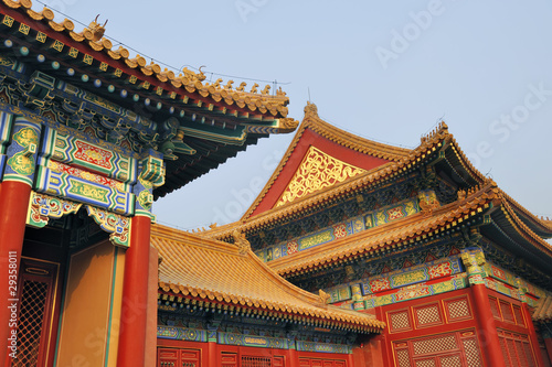 Foto op Aluminium Beijing Roofs at the Forbidden City, Beijing, China