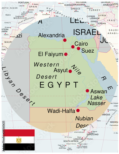 Egypt Map Africa World Business Success Background Buy This Stock