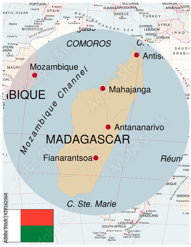 Map Of Africa Madagascar.Madagascar Map Africa World Business Success Background Buy This