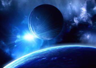 Fototapeta neonowy błysk w kosmosie