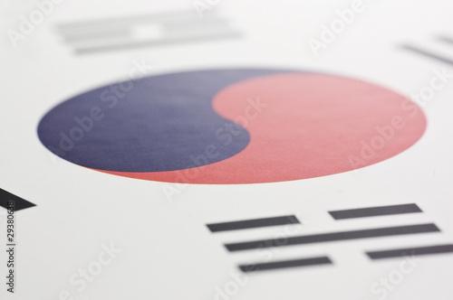 Fotografía  韓国の国旗のアップ