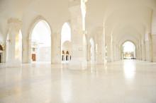 Madina Mosque Empty, Conceptual Indoor Of Oriental Building