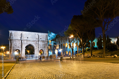 Staande foto Berlijn Arch of Constantine and Colosseum