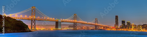 Foto op Canvas San Francisco San Francisco Bay Bridge Panorama