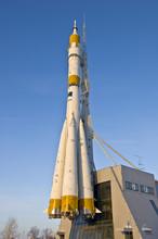 Russian Space Shuttle. Nozzles Space Rocket Soyuz.
