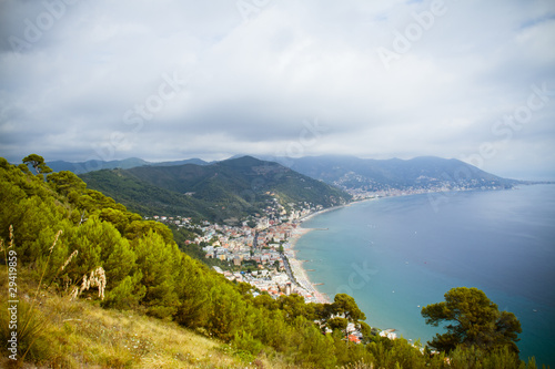 Canvas Prints Liguria view of Laigueglia