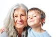 canvas print picture - Oma und Enkelsohn