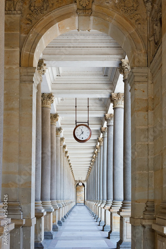 Fototapety, obrazy: Classical colonnade in Karlovy Vary, Czech Republic