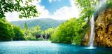 wodospad w głębokim lesie - 29434412