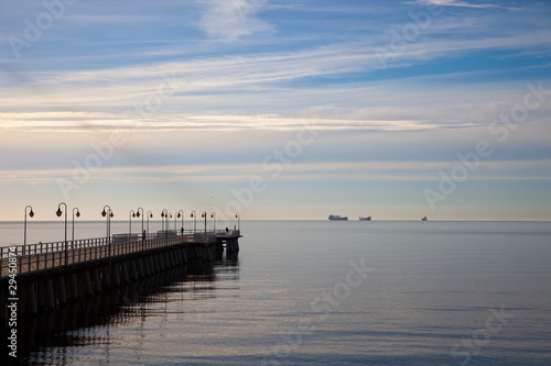Pier in the morning. Orlowo, Poland. #29450874