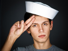 Handsome  Gallant  Young Man In The Sailor  Cap