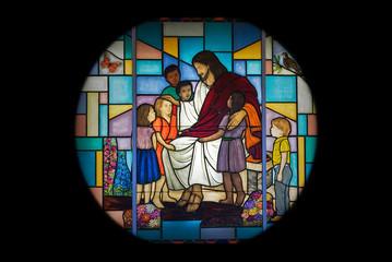 Naklejka Witraże sakralne Church Window