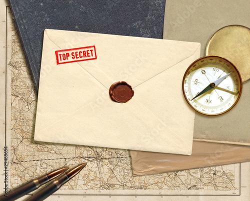 Photo  military secret document