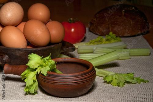 Foto auf AluDibond Aromastoffe Продукты питания деревенские диетические